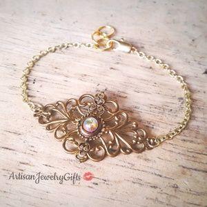 Moonstone Art Nouveau Bracelet